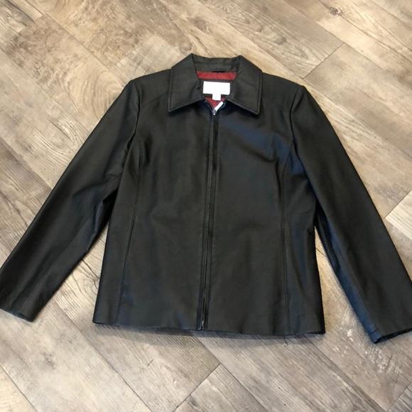 Worthington Jackets & Blazers - Black leather jacket! Petite Medium